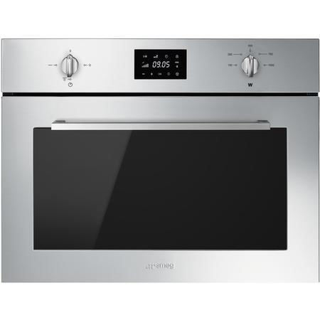 Smeg SF4400MX Cucina 45cm Height Compact Combination Microwave Oven - Stainless Steel