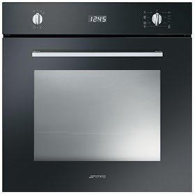Smeg SF485N Cucina 60cm Multifunction Oven With New Style Controls - Black