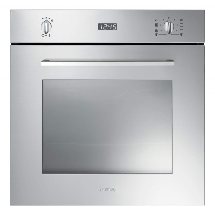 Smeg sf485x cucina 60cm multifunction electric single oven stainless steel appliances direct - Forno a incasso a gas ...