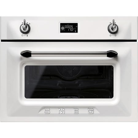 Smeg SF4920VCB 45cm Height Steam Combination Oven - White