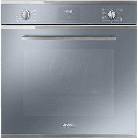 Smeg SF6400TVS Cucina 60cm Multifuction Single Oven - Silver Glass