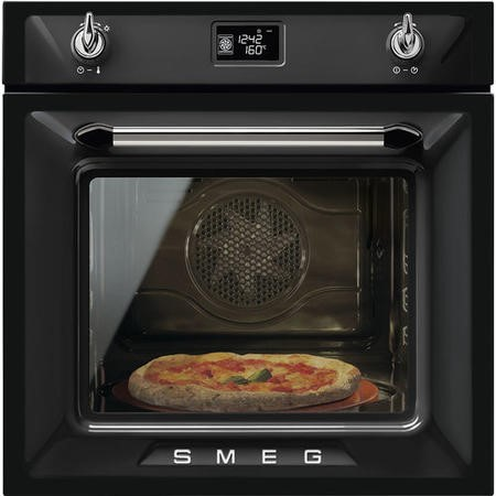 Smeg SF6922NPZE1 Victoria Multifunction Electric Single Oven - Black