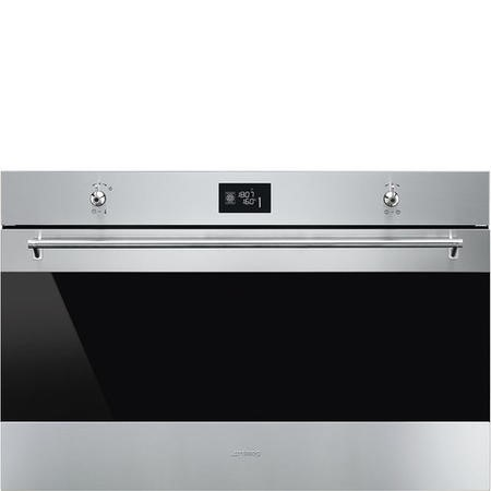 GRADE A3 - Smeg SF9390X1 90cm Classic Stainless Steel and Eclipse Glass Multifunction Single Oven