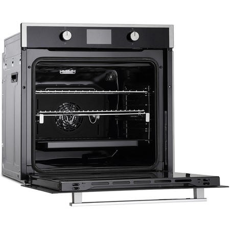 Montpellier SFOS78MBX 75L Nine Function Single Oven With Full Colour Display And Steam Clean - Stainless Steel