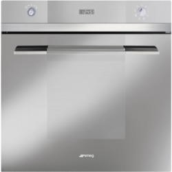 Smeg SFP109S Linea Pyrolytic Multifunction Maxi Plus Electric Built-in Single Oven - Silver Glass