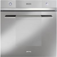 GRADE A2 - Smeg SFP109S Linea Pyrolytic Multifunction Maxi Plus Electric Built-in Single Oven - Silver Glass