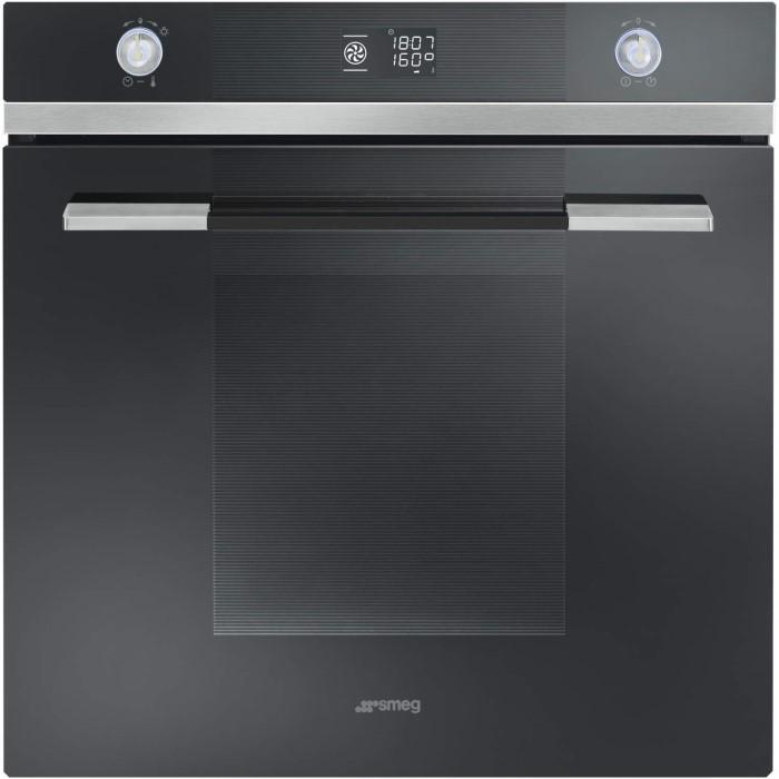 smeg sfp125n linea pyrolytic multifunction maxi plus electric built in single oven black. Black Bedroom Furniture Sets. Home Design Ideas