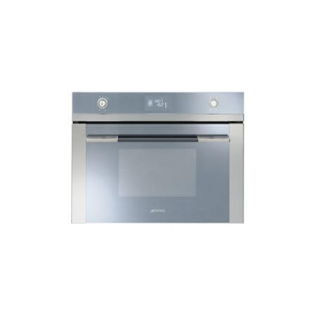 Smeg SFP4120 Linea Compact Height Pyrolytic Multifunction Single Oven Stainless Steel