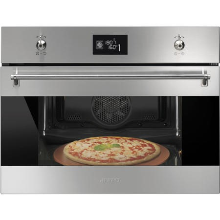Smeg SFP4390XPZ Classic 45cm Height Stainless Steel Compact Multifunction Pyrolitic Pizza Oven