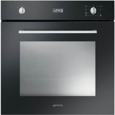 Smeg SFP485N Cucina Pyrolytic Multifunction Maxi Plus Electric Built-in Single Oven - Black
