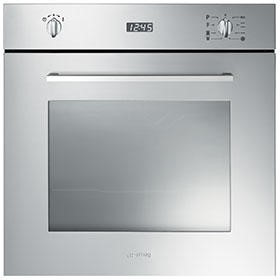 GRADE A1 - Smeg SFP485X Cucina Pyrolitic Multifunction Maxi Plus Electric Built-in Single Oven - Stainless Steel