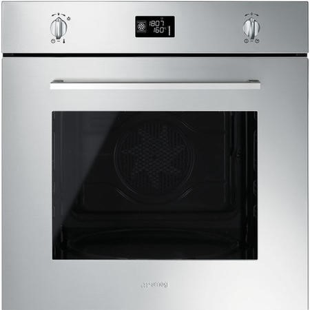GRADE A2 - Smeg SFP496XE 60cm Cucina Stainless Steel Pyrolitic Multifunction Single Oven with Soft Close Door