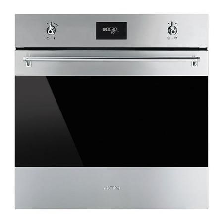 Smeg SFP6378X Classic Multifunction Pyroltic Single Oven Stainless Steel