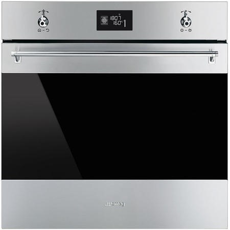 Smeg SFP6390XE Classic Multifunction Electric Built-in Single Oven With Pyrolytic Cleaning Stainless Steel