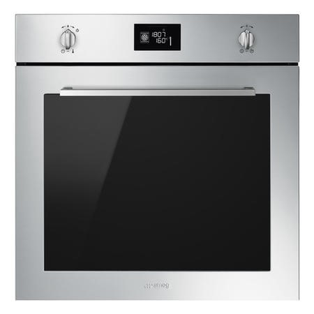Smeg SFP6402TVX Cucina 60cm Multifuction Single Oven With Pyrolytic Cleaning - Stainless Steel