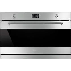 Smeg SFP9395X Classic Multifunction Electric Built-in Single Oven With Pyrolytic Cleaning Stainless Steel And Dark Glass