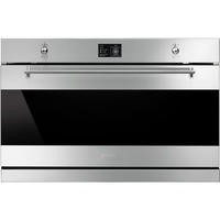GRADE A2 - Smeg SFP9395X Classic Multifunction Electric Built-in Single Oven With Pyrolytic Cleaning Stainless Steel And Dark Glass