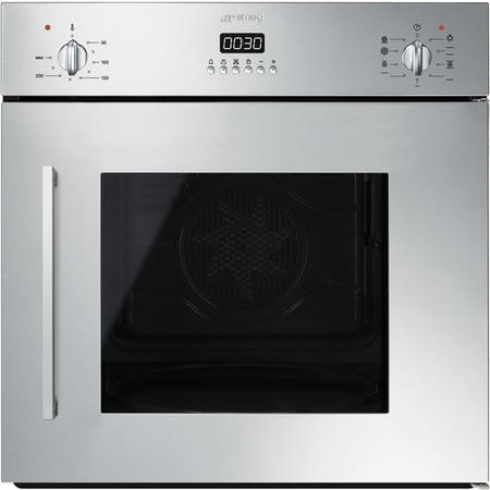 Smeg SFS409X 60cm Cucina Stainless Steel Multifunction Side Opening Single Oven