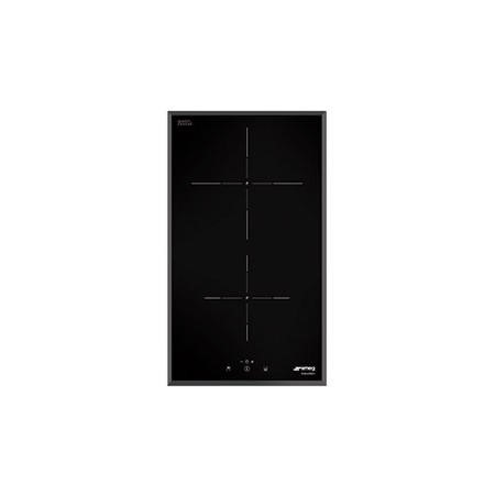 Smeg SI5322B Touch Control Domino 30cm 2 Zone Induction Hob With Angled Edge
