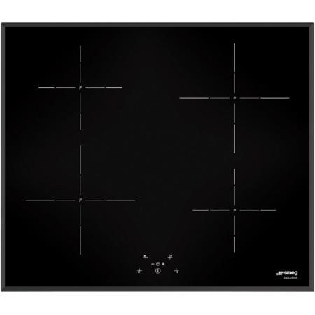 Smeg SI5643B 60cm 4 Zone Angled Edge Glass Induction Hob With Touch Controls