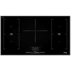 Smeg SIM592B 90cm Multizone Angled Edge Glass Induction Hob with Touch Controls
