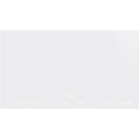Smeg SIM693DW Slider Touch Control Multizone 90cm Induction Hob With Straight Edge White Glass