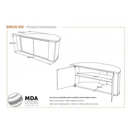 MDA Designs Sirius 850 TV Cabinet in Oak up to 37 inch