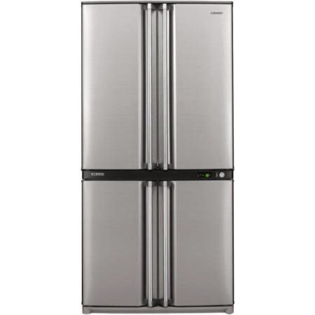GRADE A2 - Light cosmetic damage - Sharp SJF790STSL 4 Door Fridge Freezer Stainless Steel