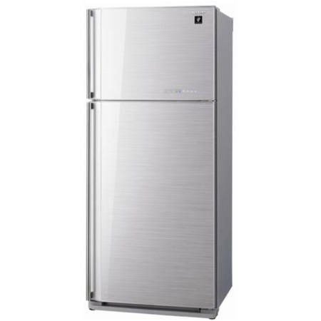 Sharp SJGC700VSL 80x185cm Frost Free Top Mount Freestanding Fridge Freezer Silver