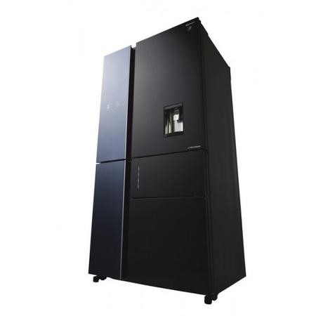 Sharp SJWX830FBK Five Door American Style Refrigerator With Water Dispenser - Black