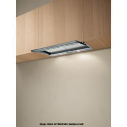 Elica SKLOCK60 Built In Twin Motor Silver Grey 52cm Wide Telecopic Cooker Hood With Glass Panel