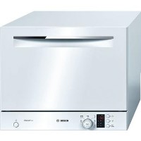bosch Serie 4 SKS62E22EU 6 Place Freestanding Compact Table Top Dishwasher - White