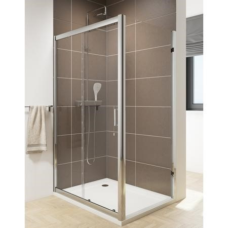 Claritas 6 Sliding Shower Door - Easy Clean Glass - 1200mm - 6mm Glass