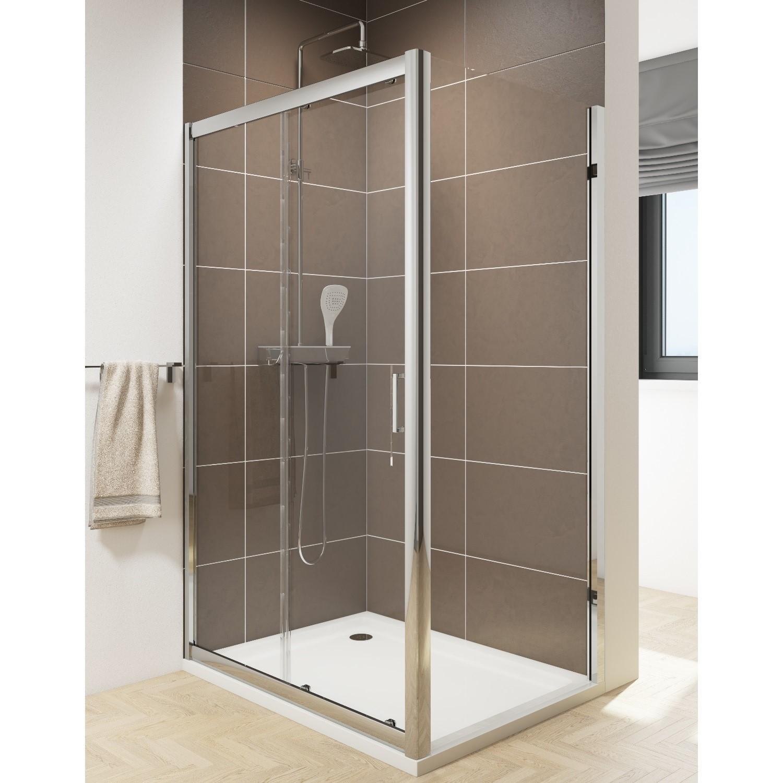 Claritas 6 Sliding Shower Door Easy Clean Glass 1200mm 6mm Glass