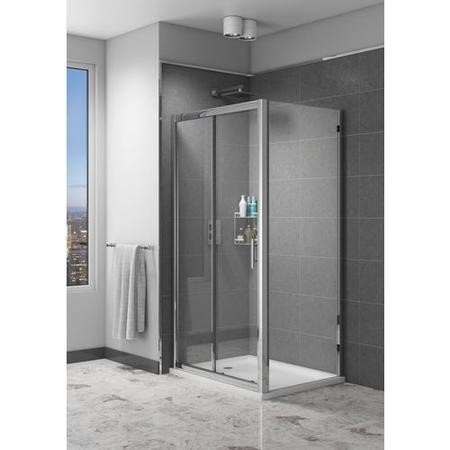 Claritas 6mm Glass Sliding Shower Door - 1100 x 1850mm