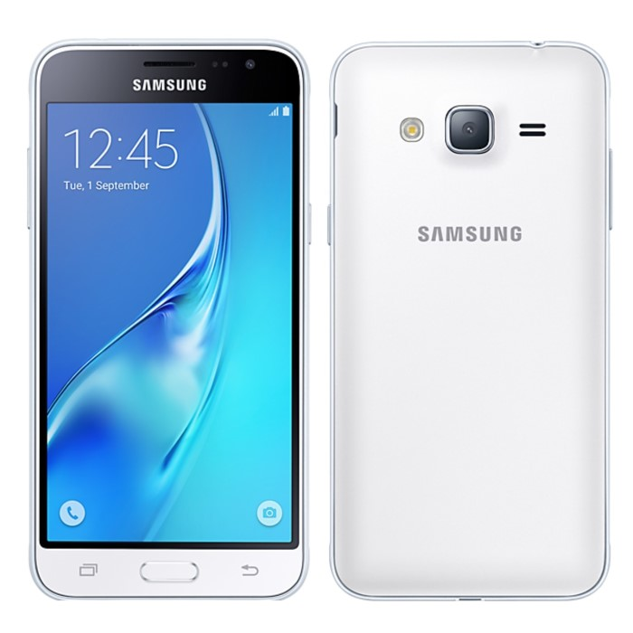 Samsung Galaxy J3 White 2016 5 Inch 8GB 4G Unlocked & SIM