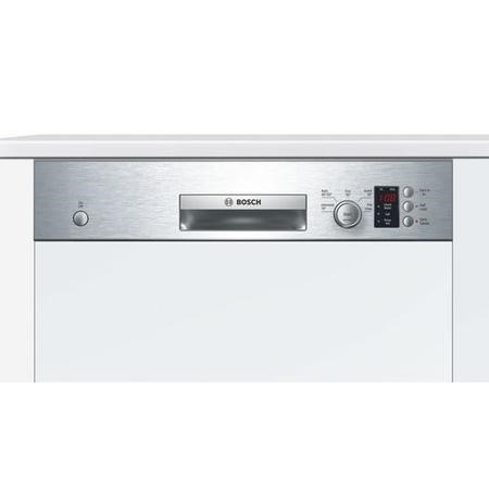Bosch Serie 4 Active Water SMI50C15GB 12 Place Semi Integrated Dishwasher - Stainless Steel
