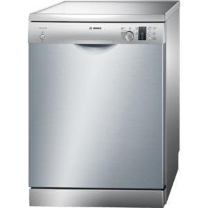 Bosch SMS50C28GB Freestanding Dishwasher in silver inox