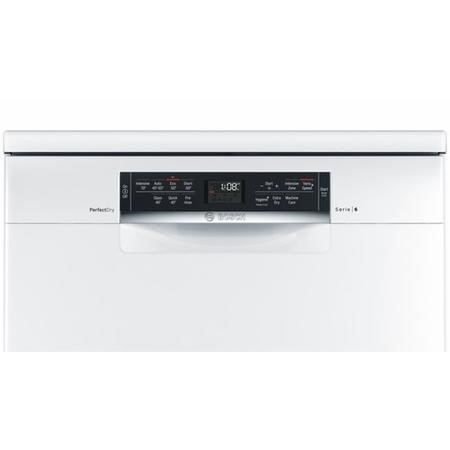 Bosch Serie 6 Perfect Dry SMS67MW00G 14 Place Freestanding Dishwasher - White