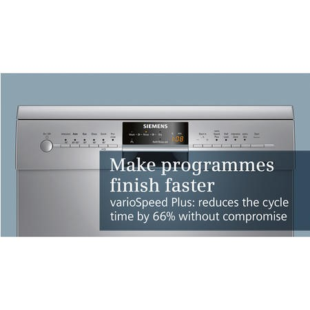 Siemens SN26M892GB 14 place Freestanding Dishwasher in silver inox