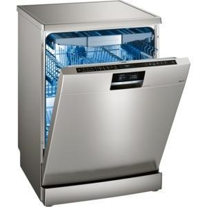 Siemens SN278I01TG 14 place Freestanding Dishwasher in silver inox