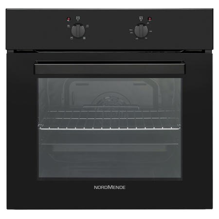 Nordmende SO105BL 58L Black Glass Single Fan Oven And Grill