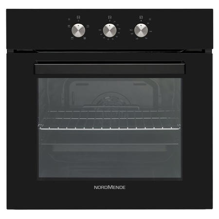 Nordmende SO205BL 65L Black Glass Single Fan Oven And Grill