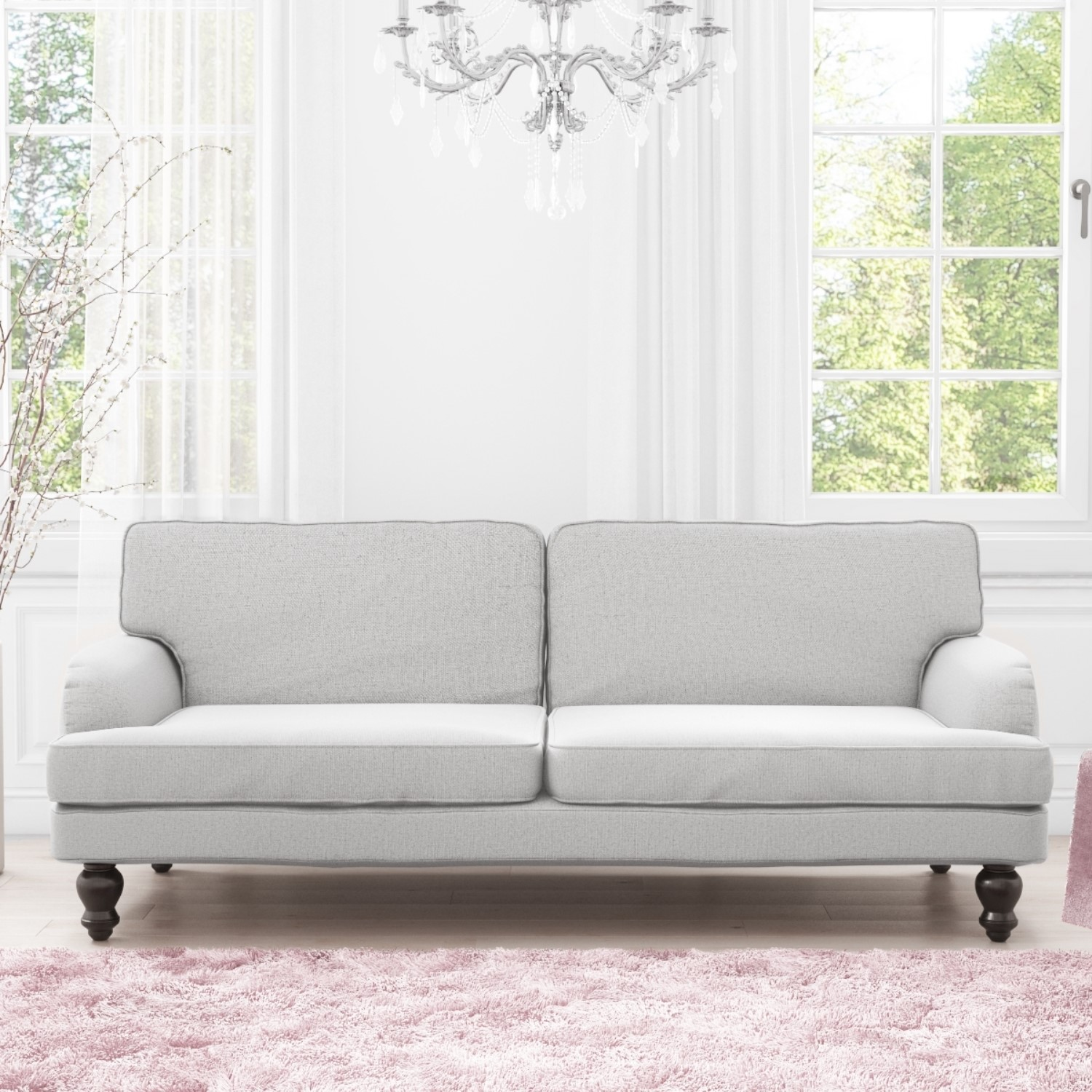 Phenomenal Details About Luxury Modern 3 Seater Sofa Sofa Bed In Light Grey Ocoug Best Dining Table And Chair Ideas Images Ocougorg
