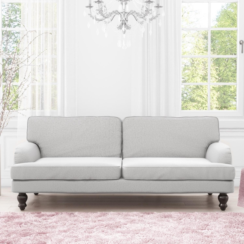 Luxury Modern 3 Seater Sofa / Sofa Bed In Light Grey