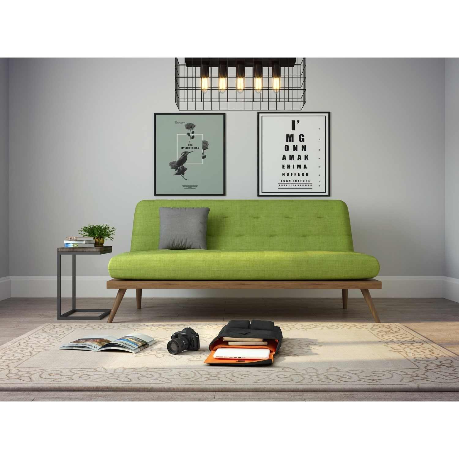 Nova Lime Green Multifunctional Sofa Bed With Click Clack