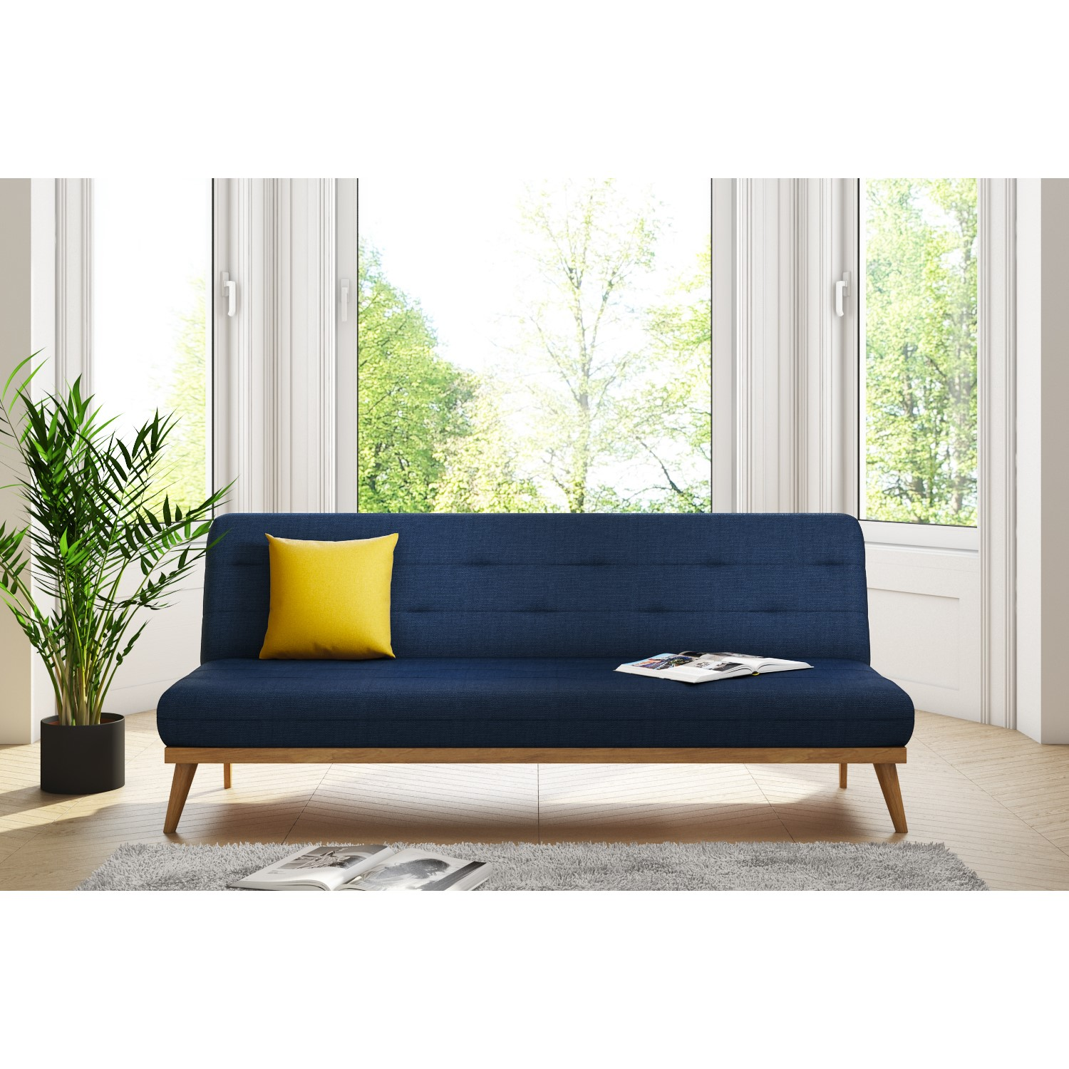 Nova Slate Blue Multifunctional Sofa Bed With Click Clack