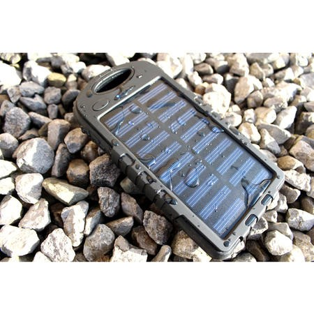 Solar Power Bank With Torch 4000mAh - Ideal For Camping & Festivals