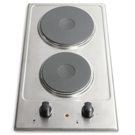 Montpellier SP200X 30cm Solid Plate Domino Hob Stainless Steel