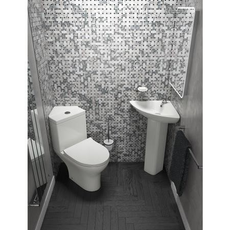 Cedar Back to Wall Toilet with Soft Close Seat